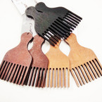 "3.25"" Comb Pick Wood Fashion Earrings .54 ea"