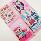 Trifold Owl Theme Dbl Side Print Wallets .65 ea
