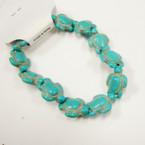 Popular Turquoise Stone Stretch Turtle Bracelets  .54 ea