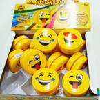 All Yellow Emoji Expression Yo Yo's 12 per display  bx .55 ea