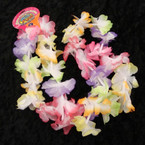 "36"" Medium Petal Rainbow Hawaiian Leis 12 per pk @ .45 ea"