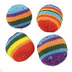 "2"" Rainbow Color Haki Sac Kickballs 12 per pk @ .50 ea"