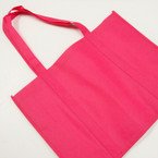 "Big 12"" X 15"" w/ Handle Hot Pink Tote Bags 12 per pk @ .58 ea"