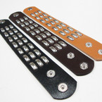 "9"" 3 Color Studded Strap Snap Closure Bracelets .58 ea"