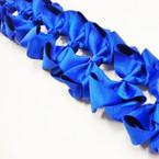 "3.5-4"" All Royal Blue  Gator Clip Fashion Bow .27 ea"