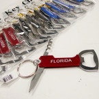 "3"" Flordia Novelty Keychain w/ Knife & Dual Bottle Opener  .54 ea"