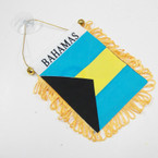 "4"" X 6"" Mini Banner Flag Bahamas w/ Suction Hook  .54 ea"