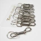 """3.25"""" Silver Heavy Duty Clip on Keychain 12 per pk .54 ea"""