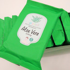 15 Sheet Make Up Remover Cleansing Towelettes  Aloe Vera .56 ea pk