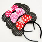 Popular Gold Sparkle Mouse Ear Headbands w/ Bow 12 per pk .56 ea