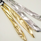 "30"" Metallic Gold & Silver  Multi Purpose Wire Headwraps .54 ea"
