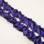 "3.5-4"" Dark Purple Gator Clip Fashion Bow .27 ea"