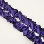 "3.5-4"" Dark Purple Gator Clip Fashion Bow .27 ea"