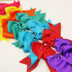 "6"" X 8"" Cheerleader Tail Bows on Gator Clip Mixed Brights c  .54 ea"