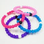 Silicone Loka Look Bracelet Asst Bright  Colors .62 ea