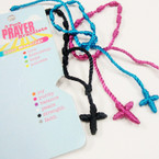 3 Pack Handmade Macrame Prayer Bracelets 12-3 pks per bag  .40 per set