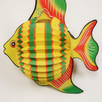 "CLOSEOUT 14"" X 11"" Puff Fish Decoration/Mobile 12 per pk .25 each"