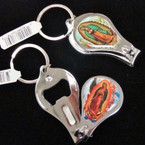 Guadalupe Metal Nail Clipper Picture Keychain .54 ea
