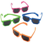 Neon Color Robot Digital Style Sunglasses  $ 1.10 each