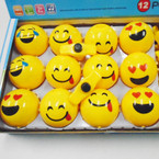 "3"" Round Emoji Light & Sound Spinning Tops 12 per display bx $ 1.30 each"