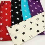 "3"" Wide Stretch Headwrap Star Print Asst  Colors .27 each"