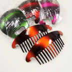 "6"" Pair Gradiant Color Jaw Combs / Hair Risers .54 per set"