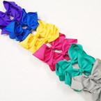 "6"" 6 Color Gro Grain Fashion Bows on Gator Clips .45 each"