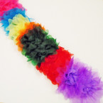 "6"" Asst Color Sheer Chiffon Gator Clip Bows .54 each"