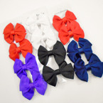 "4 Pack 3"" Bright Color Gator Clip Bows .54 each set"