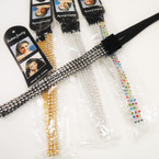 Fashionable Crystal Stone Headbands w/ Elastic Back .42 each