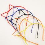 Asst Color Wrapped Fabric Cat Eye Headbands .50 each