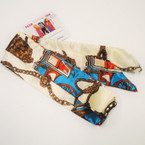 "2"" X 42""  3 in 1 Scarf,Belt.Headwrap Designer Look Print .50 each"