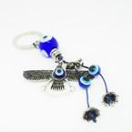 Cast Silver Eagle Keychain w/ Eye Beads .54 each