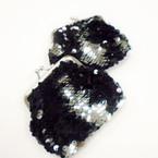 "4"" Black  Sequin Mermaid Change Color Snap Coin Purses .54 each"
