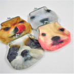 "3.5"" DBL Sided Dog Theme Soft Fabric Snap Coin Purses .58 each"