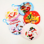 "4"" Soft Fabric Mixed Christmas Theme  Coin Purse w/ Clip  .54 each"