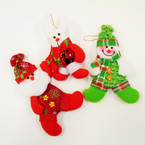 "5""-6"" Plush Christmas  Ornaments  as shown .62 each"