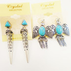 2 Style Southwest Look Earrings as shown  .54 each