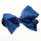 "8"" Jumbo Gator Clip Bow All Navy Blue  ON SALE .54 ea"