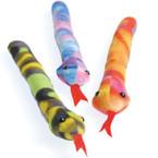 """10"""" Plush Tie Dye Snakes 12 per pk .54 each"""