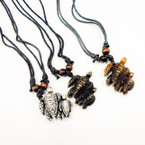 DBL Leather Cord Necklace w/ DBL Turtle Pendant .54 each