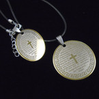 Black Cord Necklace w/ Lord's Prayer Pendant .54 each