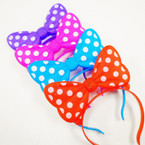 Flashing Novelty Poka Dot Headbands 12 per pk NOW .79 EA