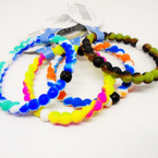 Silicone Loka Look Bracelet Asst Color Marble Style  .60 ea