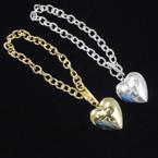 Gold & Silver Love Locket Toggle Chain Bracelets .56 each