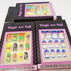 Christmas Design 12 Pk Pre Glued Fashion Nails 3 styles .54 each set
