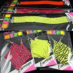 Metal Mesh Fashion Bracelets & Earrings 36 pc display .50 each pc