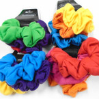 3 Pack Asst Bright Color Cotton Hair Twisters .54 per set