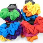 3 Pack Asst Bright Color Cotton Hair Twisters .54 per set