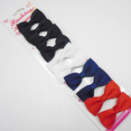 "10 Pack 2"" Gator Clip Bows 4 colors .54 per set"